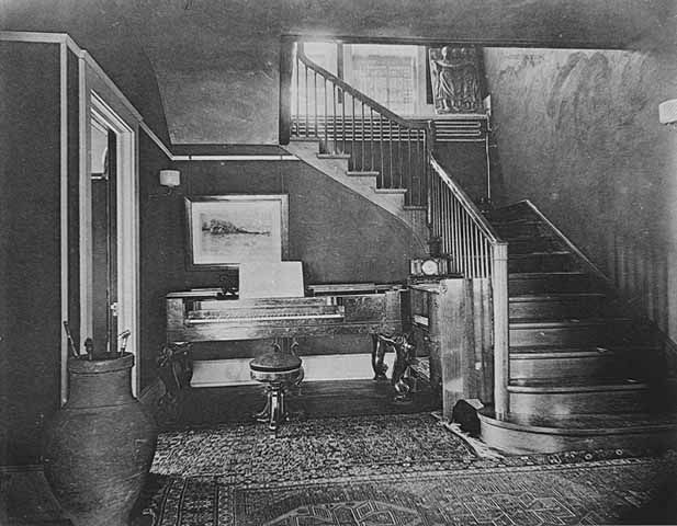 Cass & Julia Gilbert Residence, View of hall, Cass Gilbert residence