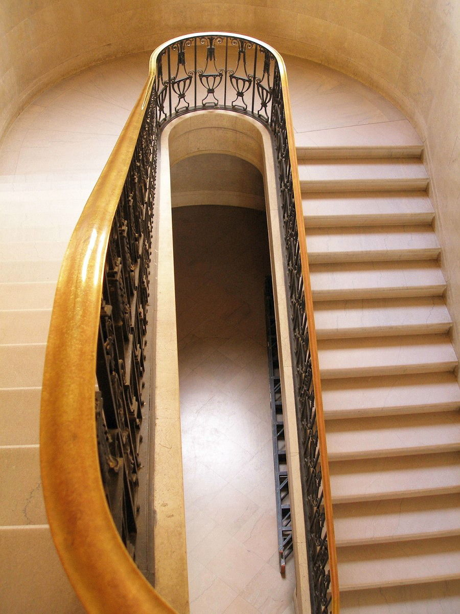 Chase Brass and Copper Building, Marble stair with ironwork