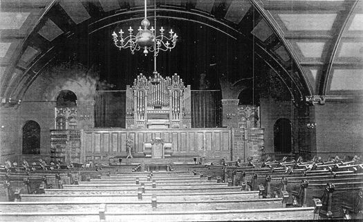 Dayton Avenue Presbyterian Church, Church Interior, 1905: Photo: Ravell's Photo Studio, St. Paul