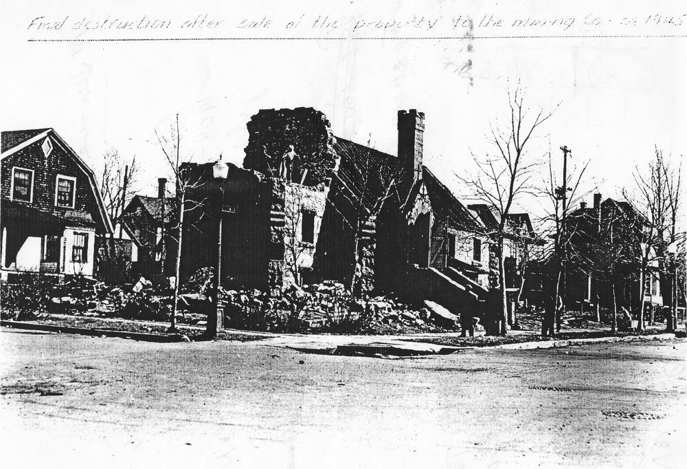 Christ Episcopal Church of Hibbing MN, Final destruction after sale of Property to the mining co., ca. 1945