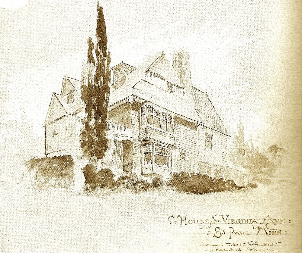 House on Virginia Avenue, Sketch for 'House on Virginia Avenue'