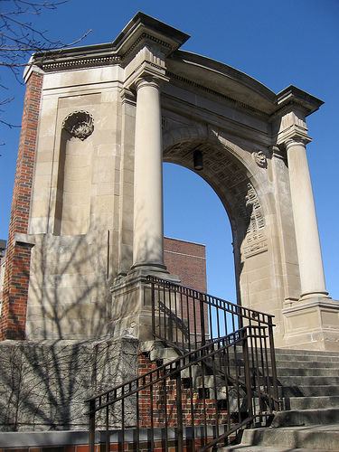 Madison Central High School, Entrance arch, Madison Central High School