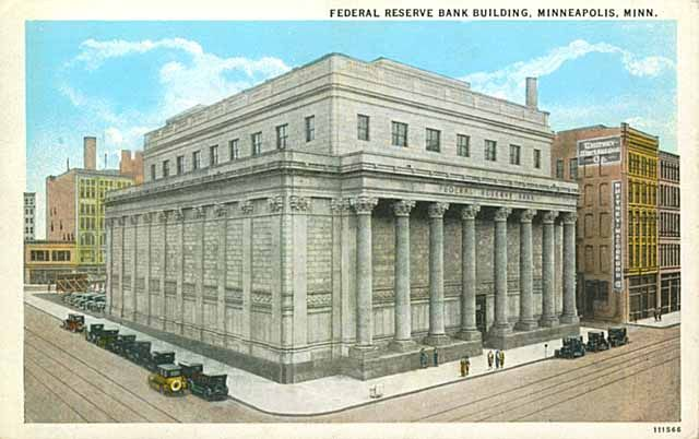 Minneapolis Federal Reserve Bank, Federal Reserve Bank, Fifth and Marquette, Minneapolis