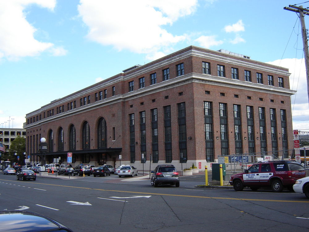 New Haven Railroad Station, Exterior view
