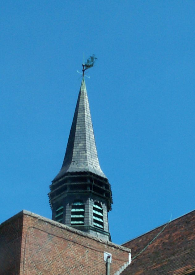 Seaside Clinic, Spire, detail.