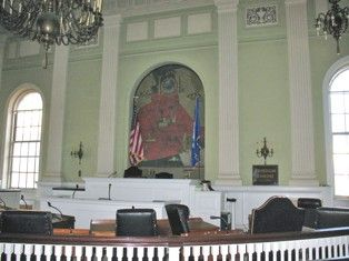Waterbury City Hall, Interior view